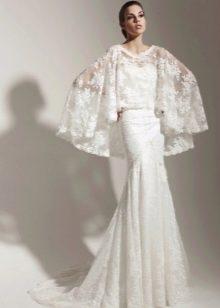 Пончо ажурное для свадебного платья
