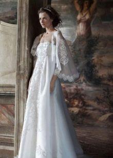 Накидка кружевная на свадебное платье