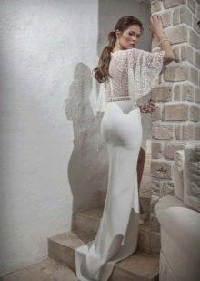 Svetlana Design свадебное платье с широкими кружевными рукавами