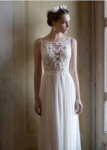 Ажурный верх и рукава в свадебном платье
