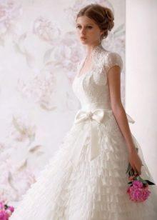 Свадебное болеро с рукавом фонарик