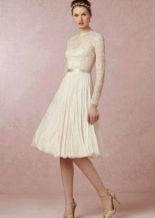 Короткое свадебное платье в стиле Прованс