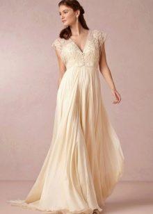 Свободное свадебное платье в стиле Прованс