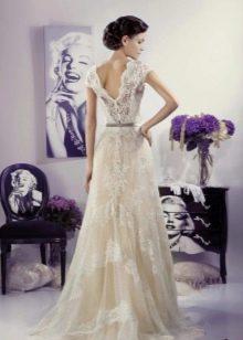 Свадебное платье Прованс с открытой спиной