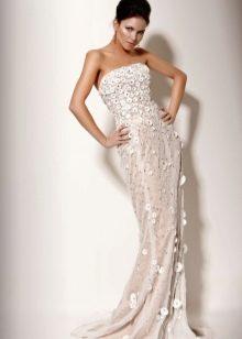 Светлое вечернее платье