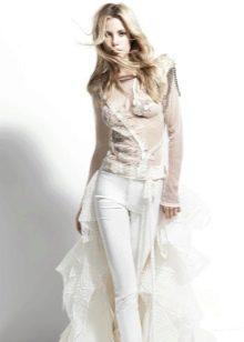 Свадебный юбочный костюм от Йолана Криса