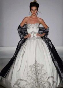 Серебристое свадебное платье