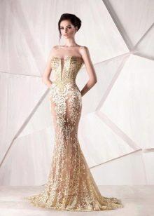 Платье сважебное ажурное