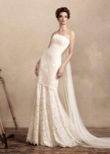 Свадебное платье русалка со шлейфом Ватто