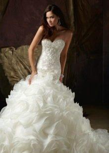 Пышное свадебное платье русалочка со шлейфом