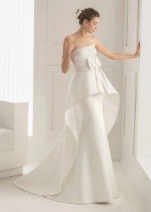 Свадебное платье русалка со съемным шлейфом