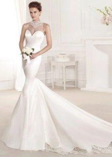 Свадебное платье русалка пышное со шлейфом