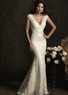 Свадебное платье русалка со шлейфом щетка