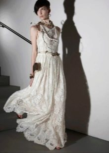 Свадебное платье бохо из кружева