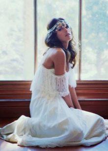 Свадебное платье бохо с элементами кружева