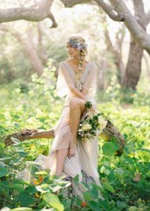 Свадебное платье бохо из легких тканей
