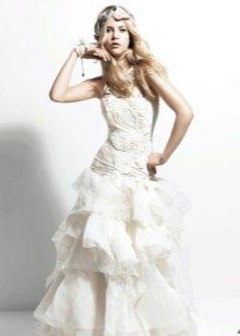 YolanCris свадебное платье с многоуровневой юбкой