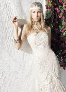 кружевное свадебное платье в стиле YolanCris