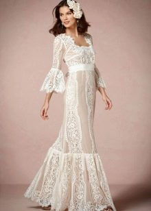 Свадебный наряд бохо от BHLDN