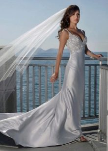 Шелковое облегающее платье Годе