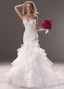 Свадебное платье в стиле русалка из органзы