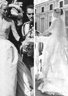 Свадебное платье из шелка Грейс Келли