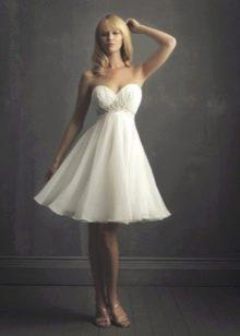 Пышное свадебное платье из шифона