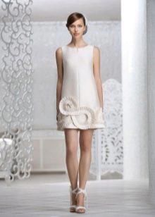 Свадебное платье простого кроя