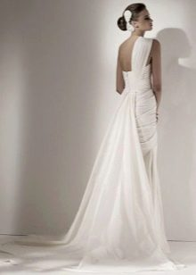 Платье свадебное со шлейфом из шифона