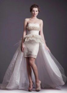 Свадебное короткое платье от Анастасии Горбуновой