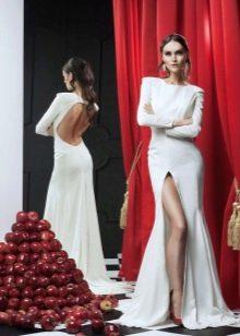 Свадебное платье с разрезом от RARA AVIS