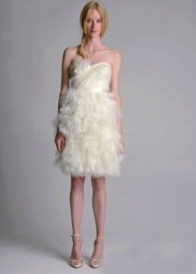 Короткое свадебное платье от MARCHESA