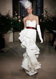 Свадебное платье с драпировкой Oscar de la Renta