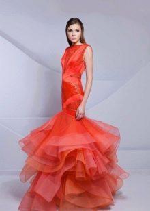 Вечернее платье русалка от Tarek Sinno