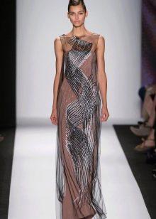 Вечернее платье с принтом от Каролины Хереры