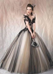 Вечернее платье цветное пышное