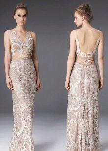Вечернее платье с иллюзией обнаженного тела