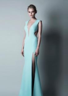 бирюзовое вечерние платье