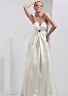 Свадебное платье для беременной с драпировкой