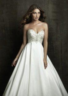 Свадебное платье для беременной с открытыми плечами