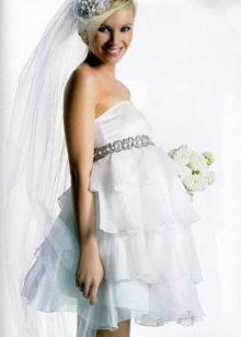 Свадебное короткое платье для беременных невест