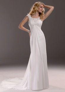 Свадебное платье со шлейфом для беременной