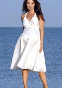 Свадебное платье короткое ампир для беременных