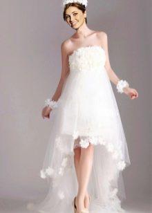Свадебное платье для беременных, короткое спереди