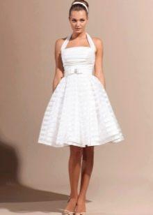 Короткое свадебное платье для беременных в стиле ретро