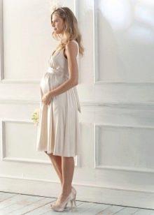 Свадебное платье для беременных без рукавов