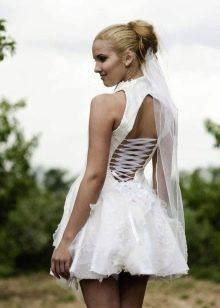 baby doll короткое свадебное платье