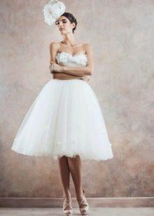 Свадебное короткое платье в стиле ретро