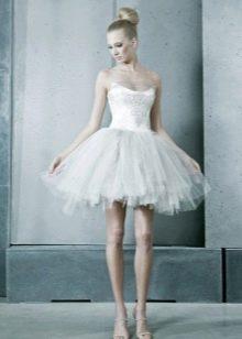 Короткое свадебное платье с юбкой пачкой