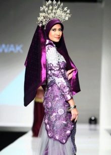 Дизайнерское свадебное платье мусульманское